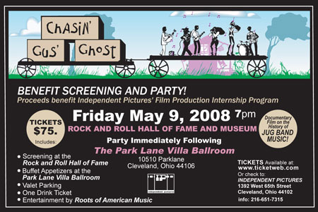 Rock and Roll Hall of Fame Benefit Postcard